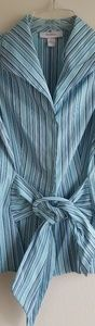 Blue Striped Sleeveless Top Dress Barn Sm